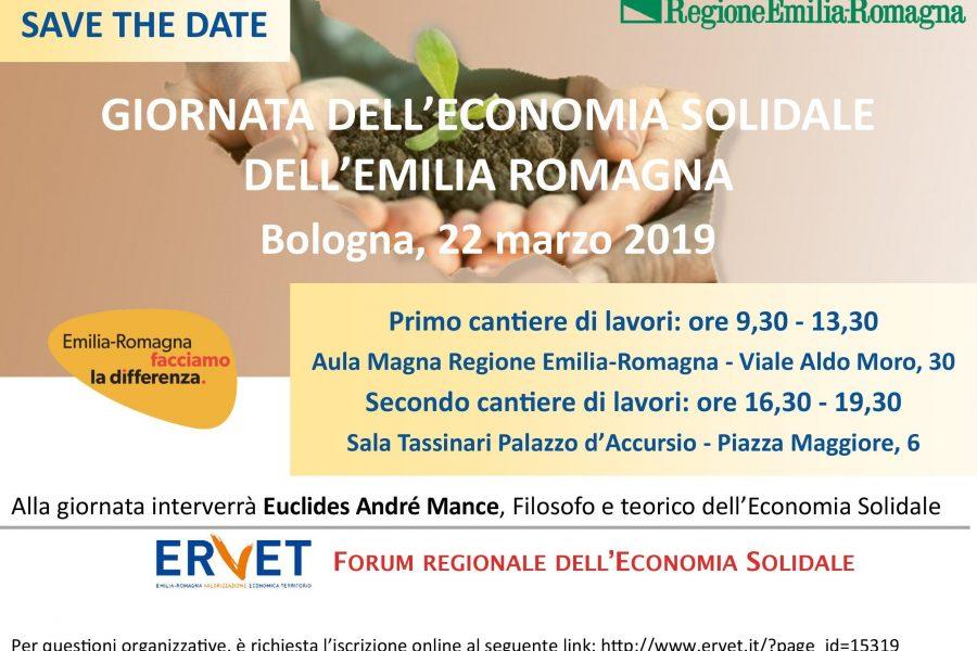 Giornata dell'Economia solidale dell'Emilia-Romagna, 22 marzo 2019: IL PROGRAMMA