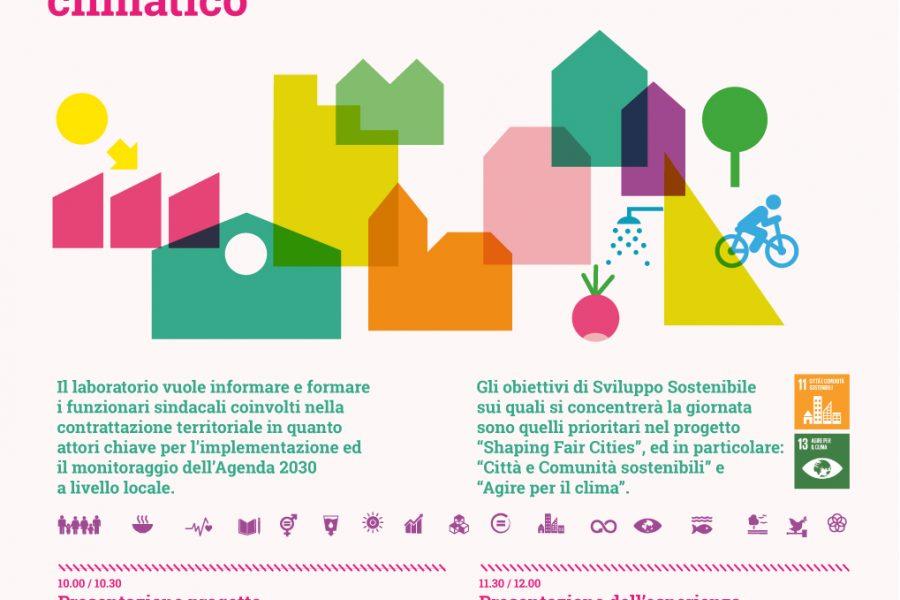 Agenda 2030 Contrattazione sindacale territoriale, città sostenibili e cambiamento climatico, 25/06 FICO Bologna