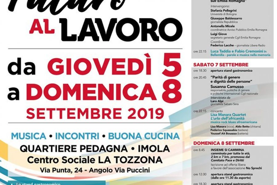 Cooperazione internazionale e sindacato: i progetti Nexus ER, Festa Cgil Imola, 5 settembre