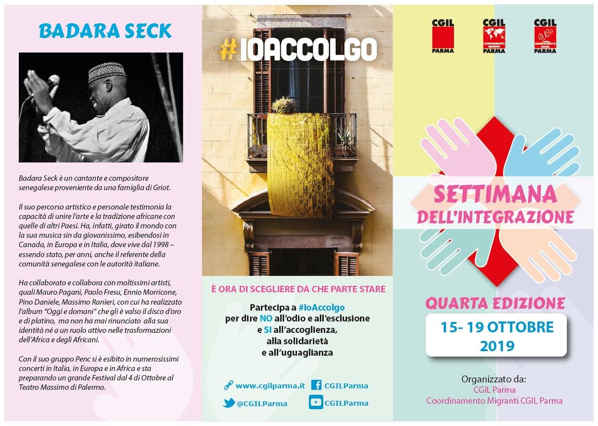 #Ioaccolgo Settimana dell'integrazione 15-19 ottobre, Parma