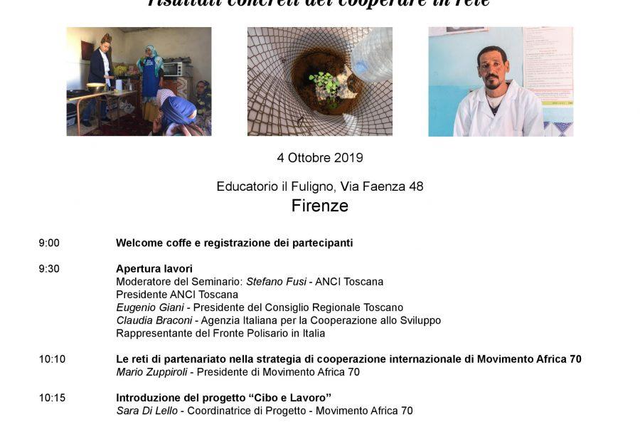 """Seminario internazione """"Cibo e lavoro autoprodurre con dignità"""", 4 ottobre Firenze"""