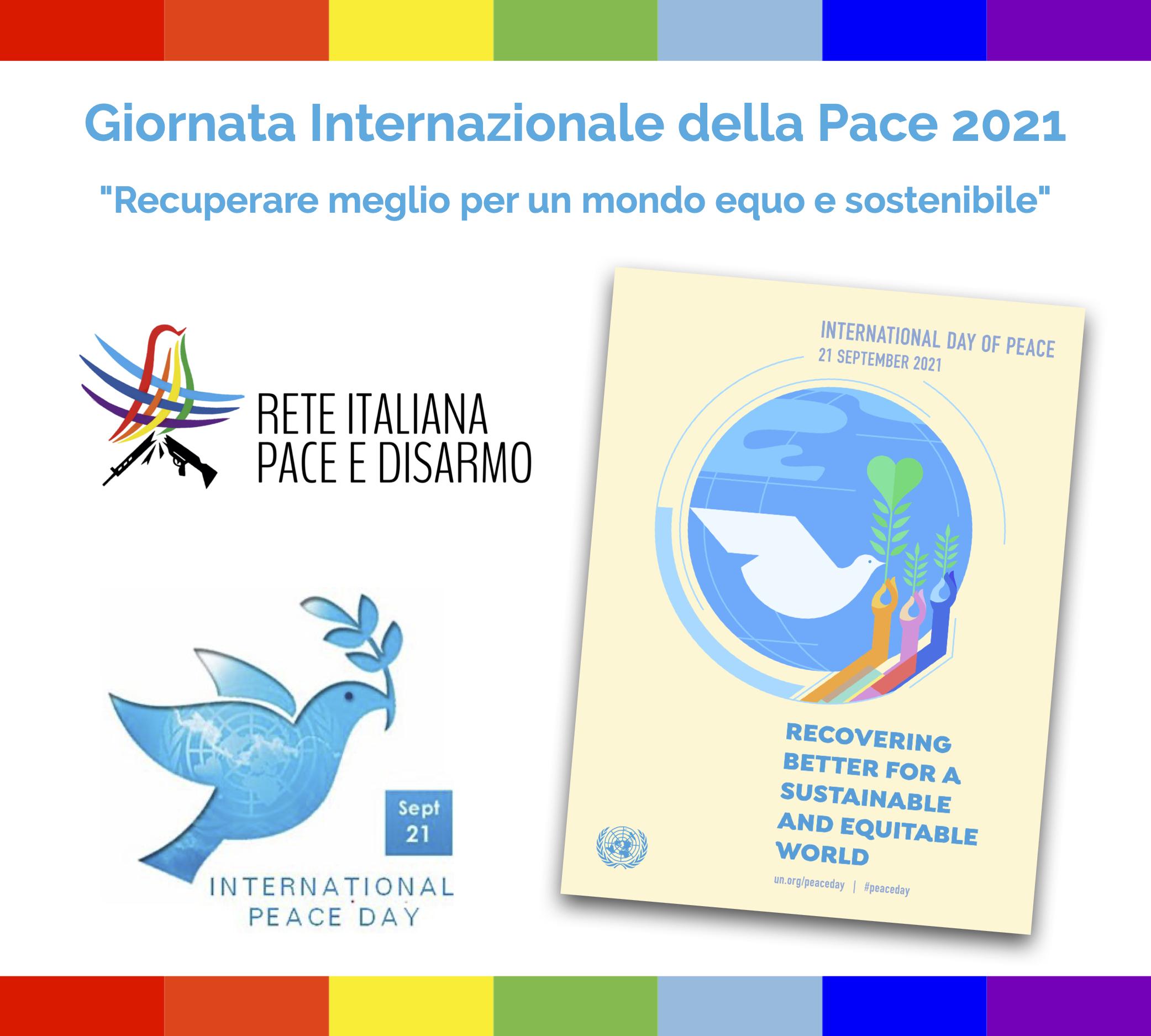 PeaceDay 2021 la Rete Pace Disarmo per una società nonviolenta